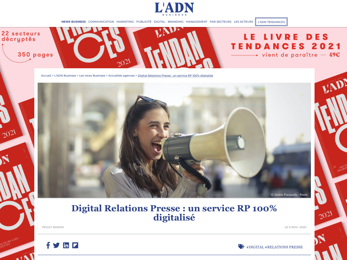 Digital Relations Presse : un service RP 100% digitalisé